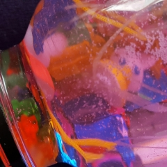 close up - bottle with glitter