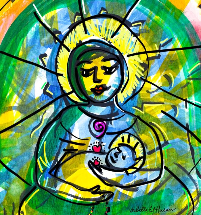madonna w child close up