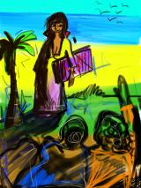 Artist at the Beach copy